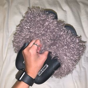 Shaggy Faux Fur Slippers